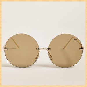 New Melt Rimless Round Sunglasses